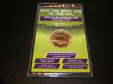 NFL SUPER BOWL XLIII 2009 MONSTER.COM PROMOTIONAL PROMO COIN TOSS COIN SEALED