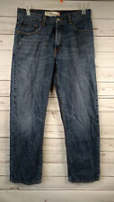 Levi's 559 Relaxed Fit Straight Leg Men's Dark Wash Distressed Jeans 32X32