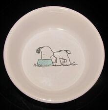 "Peanuts Snoopy Small Dog Food Dish Gibson Overseas 5 1/4"""