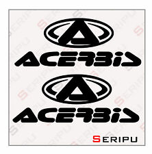 X2  KIT PEGATINAS ACERBIS VINILO RECORTE DECAL MOTO GP. SCOOTER ENDURO