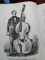 Musica contrabbasso contrebasse libro del 1860 raro