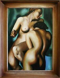 Abstrakte Erotik Sex Kunst Gemälde Ölbild Bild Bilder Ölgemälde Rahmen G06662