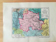 Oberamt Herrenberg Bauser Hand-Atlas KARTE von 1885 Gärtringen Nebringen Bondorf