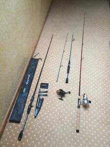 HUGE LOT REELS RODS COMBOS BAITCASTING SPINNIG DAIWA ICE FISHING EAGLE CLAW NEW