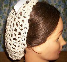 Civil War Dress Victorian Accessories Lady'S Ivory 100% Cotton Crochet Snood~Net