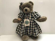"""RETIRED BOYDS BEAR """"CORINNA""""16 in JOINTED TEDDY BEAR WITH ORIGINAL TAGS"""