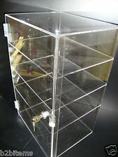 "Acrylic Countertop Display 12 x 7"" x 19"" Locking Security Showcase CUPCAKE Stand"