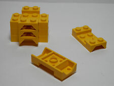 LEGO LEGOS  -  Set of  8  Vehicle Mudguards 2 x 4 with Arch Studded  Yellow