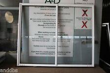 1200h x 1450w BRAND NEW Aluminum Sliding window Pearl White Clear Float