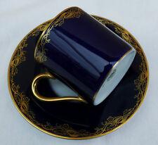 "Porzellan Mokkatasse Classic Rose Collection "" Kobalt mit Gold  "" !!! Nr.322"