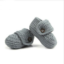 Cute Baby Boy Girl Solid Color Crochet Knit Booties Slipper Sandal Shoes Newborn