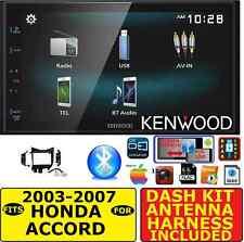 FITS 2003-2007 HONDA ACCORD KENWOOD BLUETOOTH USB AUX CAR RADIO STEREO PACKAGE
