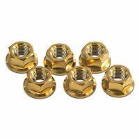 6x Gold M10x 1.25 Titanium Rear Sprocket Nuts for KTM 1090 Adventure