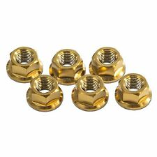 6x Honda CBR600RR 2003-2019 Gold M10x1.25 Titanium Rear Sprocket Nuts