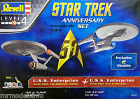 Revell 50th Anniversary Star Trek U.S.S. Enterprise Set  Plastic Model Kit 05721