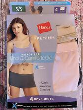 Hanes Womens Microfiber Cool & Comfortable X-Temp Boyshorts 2 Pair - Size 5/S