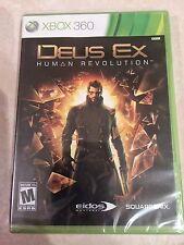 Deus Ex: Human Revolution (Microsoft Xbox 360, 2011) USED SEALED