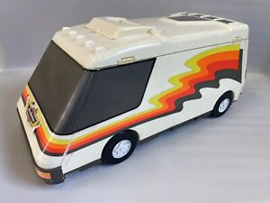 Vintage Micro Machines Super Van City White Fold Out RV Camper Playset Case 1991