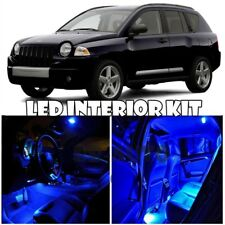 For 2007-2017 Jeep Compass SUV LED Light Bulb Xenon Blue Interior Package Kit