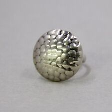 Modernist sterling silver hand hammered ring, 925 ring, 6.5 g,  size 6.5 (#3)