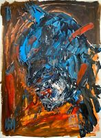 "Original Abstract 18x24"" Bloody Batman Bust Palette Knife Portrait Painting Art"