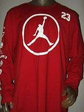 Nwt Men's XXL Red Nike Air Michael Jordan #-23 Jump-man Basketball Sport Shirt