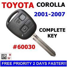 60030 Toyota Corolla REMOTE CAR KEY 2001 2002 2003 2004 2005 2006 2007 chip key