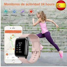 YAMAY Smartwatch con Oxímetro de Pulso Esfigmomanómetro y Pulsómetro (rosado)