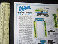 Vintage 00/H0 Scale Foden Steam Wagon 1911 Cut-Out Card Model. Bernard King 1974