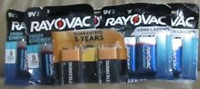 Lot of 6 Rayovac & Duracell 9V Batteries, 2 x 6 pack  2023 BRAND NEW