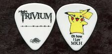 TRIVIUM 2011 In Waves Tour Guitar Pick!! MATT HEAFY custom concert stage PIKACHU