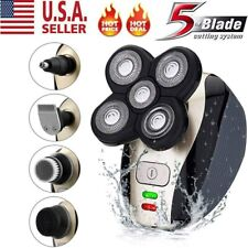 4D Rotary Electric Shaver 5 IN 1 USB Rechargeable Bald Head Shaver Beard Trimmer