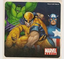 2007 MARVEL HEROES STICKER #2 WOLVERINE THE THING HULK CAPTAIN AMERICA