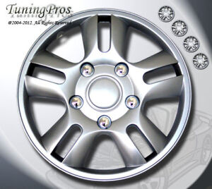 """15"""" Inch Hubcap Wheel Cover Rim Covers 4pcs with ABS Plastic Style #B006"""