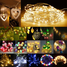 Battery Power Operated LED String Fairy Lights Xmas Tree Wedding Party Dec Lamp