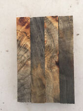 "Buckeye Burl Pen Blanks Rod Seat 1 x 1 x 6"" - 4 pieces-  Exotic Wood - #1910"