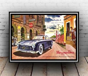 Mercedes Benz : Reproduction Motoring advert, poster, Wall art.