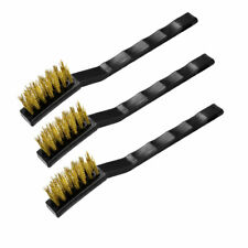 Contoured Handle 2x Trojan BRASS PLATED WIRE BRUSHES TJQ0030 Narrow Head