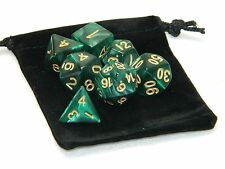 Wiz Dice 7 Die Polyhedral Set Basilisk Blood Teal Swirl Dice With Dice Bag