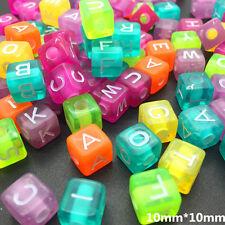 50pcs Mix Color Mix Letter Alphabet Acrylic Spacer Beads for Bracelets DIY #Z31