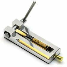 Premium All-Metal Oboe Reed Tip Cutter - Built in Ruler, Made in Europe