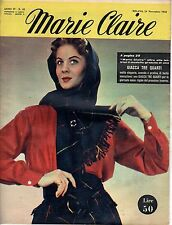 rivista MARIE CLAIRE ANNO 1952 NUMERO 48