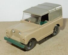 MICRO WIKING HO 1/87 LAND ROVER GRIS CLAIR CAPOTE GRIS FONCE + conducteur driver