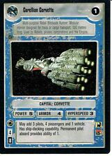 STAR WARS CCG PREMIERE BLACK BORDER UNCOMMON CORELLIAN CORVETTE