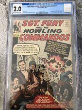 Sgt. Fury & His Howling Commandos #1 CGC 2.0 1st Nick Fury * Secret Invasion MCU