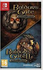 Baldur's gate edicion mejorada I y II Interruptor Juegos Idea de Regalo Set Nuevo Raro
