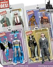 BATMAN RETRO SERIES 4;SCARECROW;  BATMAN; RAS AL GHUL;  COMMISIONER GORDON SET 4