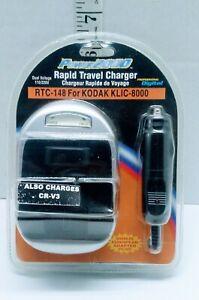 Power 2000 RTC 148 For Kodak KLIC-8000 Rapid Travel Charger 110/220V