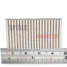 500/1000 Tiny Magnet 2x0.5 mm N52 Neodymium small craft magnet 2mm dia x 0.5mm