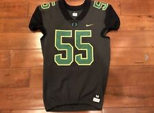 Men's Nike Oregon Ducks Football Jersey Team Issued Practice Pro Cut L Gray Sewn